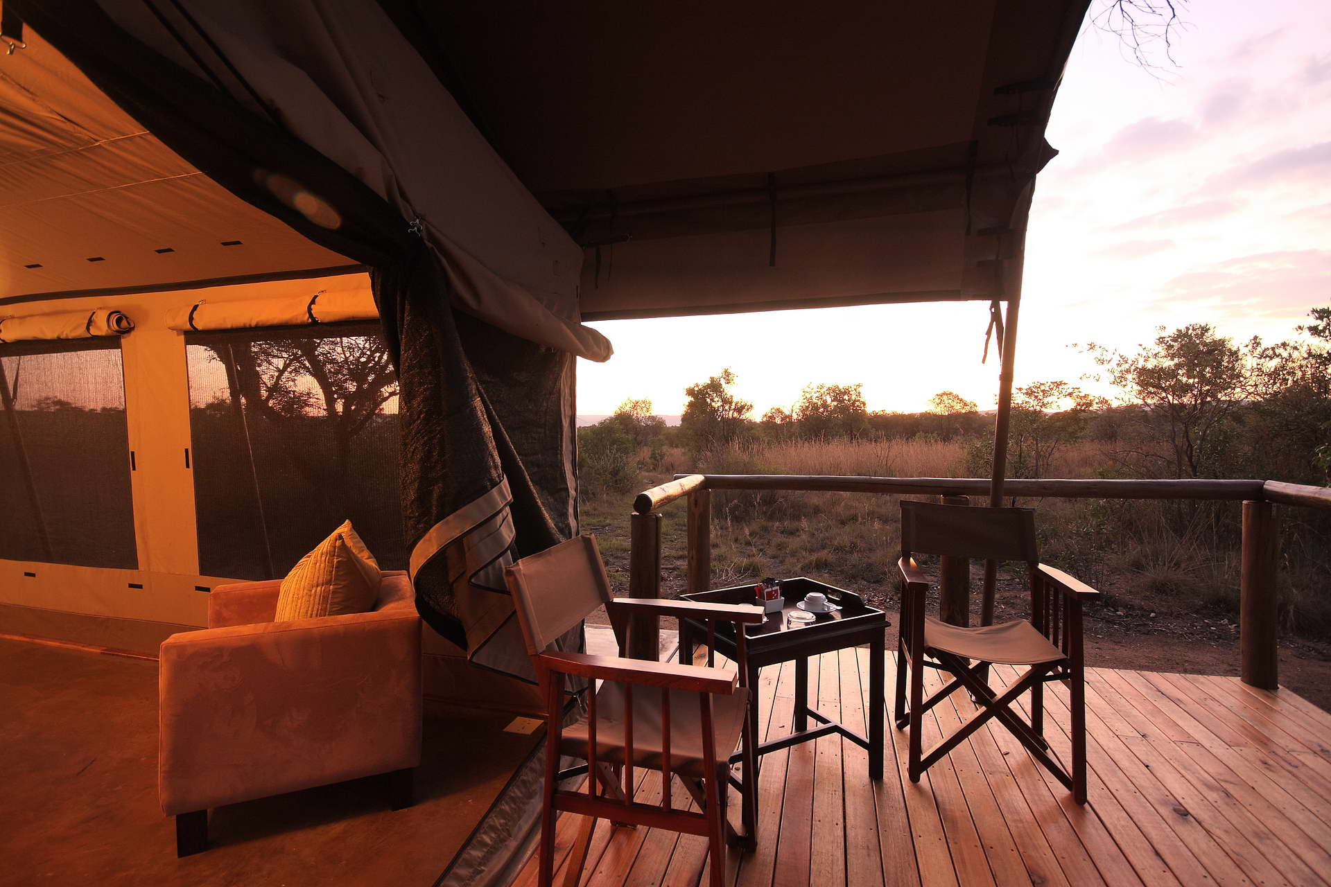 Thandeka Lodge & Spa offers luxury tented camp Bela Bela accommodation in Limpopo's Waterberg mountain range