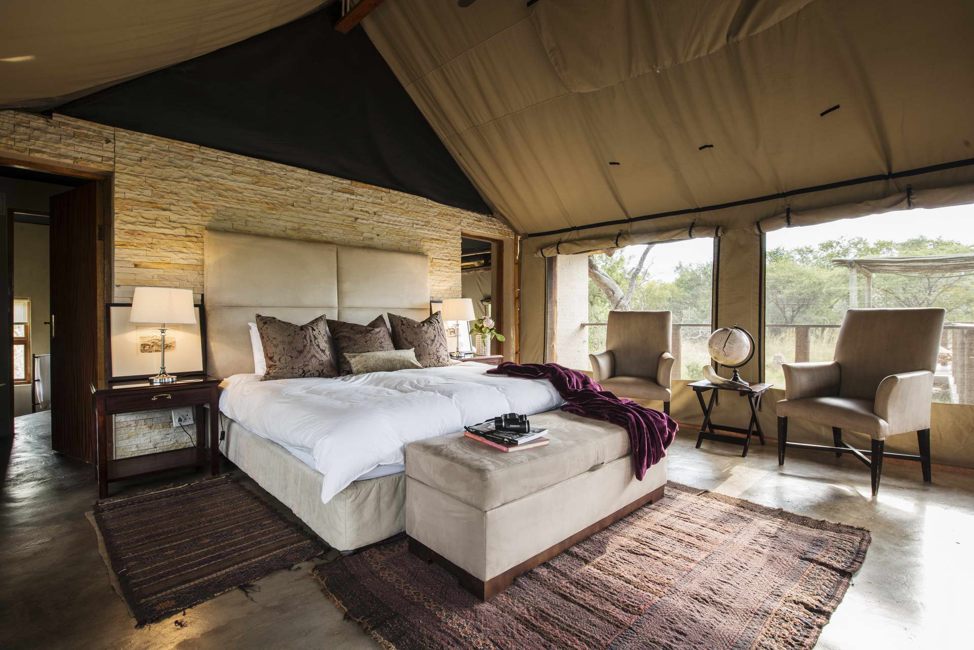 Thandeka Lodge Bela Bela offers luxury tented camp accommodation with spa, resort & game drive facilities in Limpopo's malaria-free Waterberg mountain range